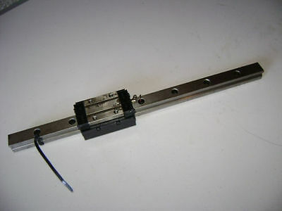 ROUNTER CNC LINEAR ACTUATOR slide rail 18 in long SBW-25 bearing blocks