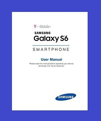 Samsung Galaxy S6 User Manual for T-Mobile (model SM-G920T)