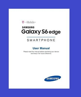 "Samsung Galaxy ""S6 Edge"" User Manual for T-Mobile (model SM-G925T)"