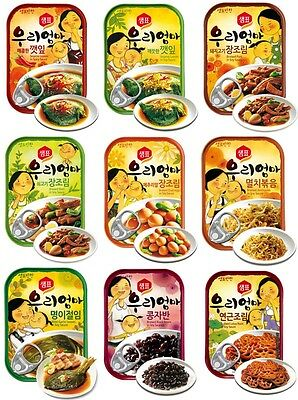 """Korean Instant Side Dishes """"My Mother"""" Series, One-Touch Canned Food, Banchan"""