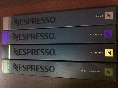 40 Nespresso Capsules Indriya,Ristretto, Arpeggio, Roma - SAVE $5 WHEN YOU BUY 2