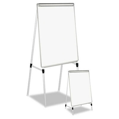 "Universal Adjustable Dry Erase Easel, 29 x 41"" White Board, Silver Frame"