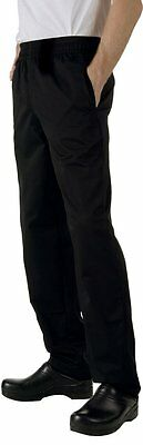 Chef Works NBBP Basic Baggy Chef Pants, Black, Large , New, Free Shipping
