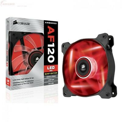 Corsair Air Series AF120 LED Quiet Edition High Airflow Fan Single Pack - Red (C