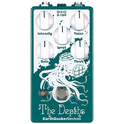 EarthQuaker Devices The Depths Optical Vibe Machine Phaser Guitar Effects Pedal