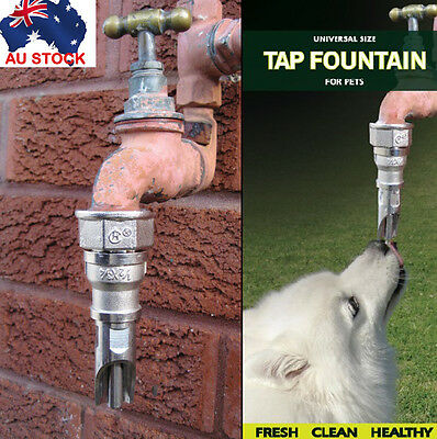 Drinking Fountain for Pet Dog - Fit Any Australian Garden Taps no tool required