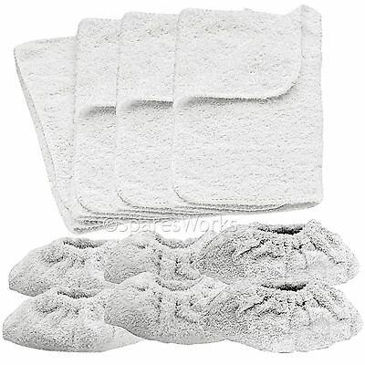 10 x KARCHER Steam Cleaner Hand Tools Terry Cloth Covers & Washable Cover Pads