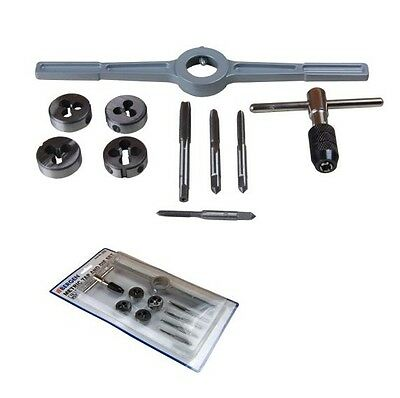 TAP WRENCH AND DIE SET by BERGEN TOOLS M4 M5 M6 M8 metric thread repair