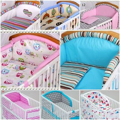 3 Pcs Pieces Cot Bed Bedding Set Sets 70X140 Pillow Case Duvet Cover Bumper