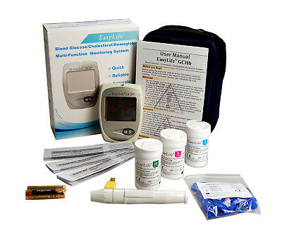 CHOLESTEROL TEST + GLUCOSE TEST + ANAEMIA TEST 3 in 1 METER MONITOR EASY LIFE