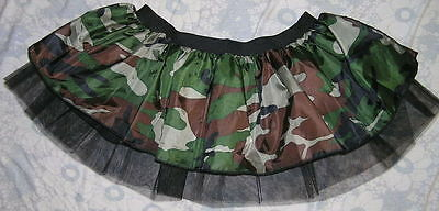 Camouflage army Punk rave club Tutu Skirt dance festival show Halloween party