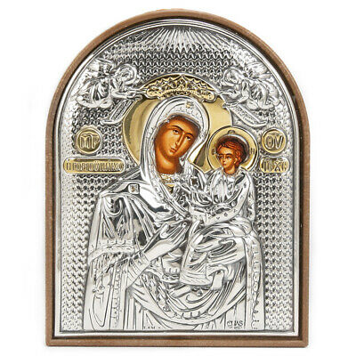 NEW Clarte Icon Holy Virgin Mary Quick Listening Gold 7cm