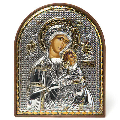 NEW Clarte Icon Holy Virgin Mary Unspoiled Gold 10.5cm