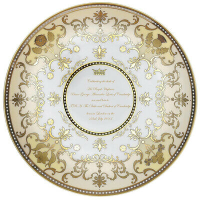 NEW Royal Worcester Royal Baby Coupe Plate