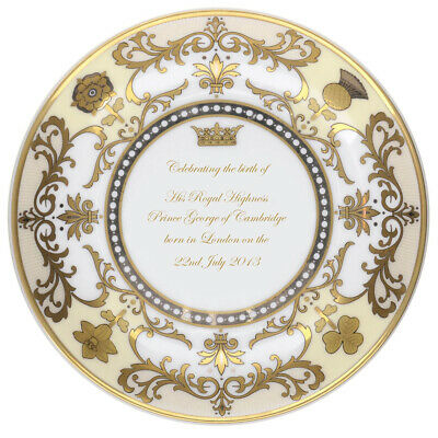 NEW Royal Worcester Royal Baby Small Plate