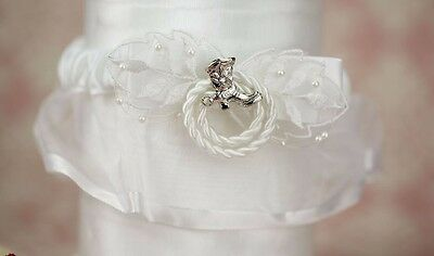 ~Wedding Bridal Garter Western Country Cowboy/girl Boot & Lasso White Or Ivory~