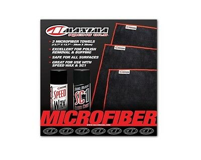 Maxima Mx Cleaning Wash Motocross Dirt Bike Polish Micro Fiber Towels 3 Pack