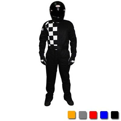 Finishline Two Layer SFI-5 Fire Retardant Racing Suit, Grey, US Size XXL