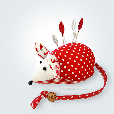 Cute Mouse Pin Cushion Sewing Pattern & Full Instructions. Make Your Own