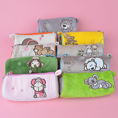 10 Style NICI Plush Pencil Case, Cosmetic bag, Coin Purse with Free Shipping