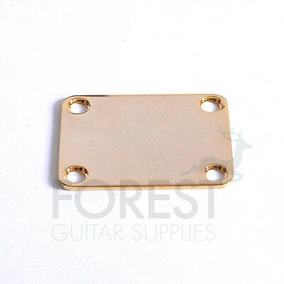 Neck joint plate Fender style gold
