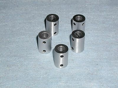 "3/16"" ESG SHAFT COUPLERS or COUPLINGS - 5 PIECES 6061 ALUMINUM"