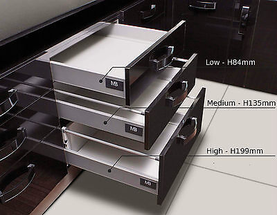 Push to Open Kitchen Drawer Box Sides / Drawer Runners (all sizes)