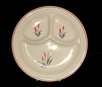 "Universal Potteries CATTAIL *9 3/4"" GRILL PLATE*"