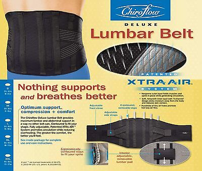 Chiroflow Deluxe Lumbar Support Belt - Size Large