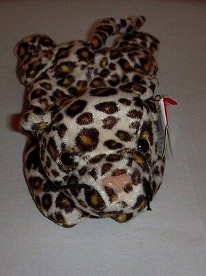 """Ty Beanie Baby """"Freckles"""" The Leopard - DOB: 6-3-96 NWT"""
