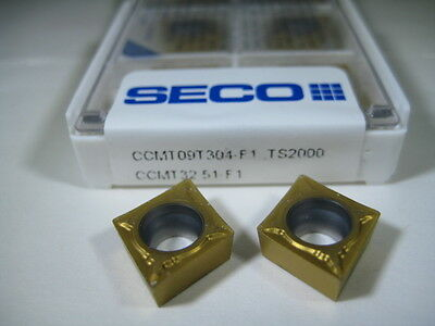 Box ( 10 ) Seco Ccmt09T304 Lathe Turning Ccmt 32.51-F1 Grooving Carbide Inserts