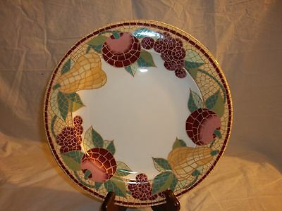 Mosaic Fruit by Pier 1 Dinner Plate Fruit In Mosaic Pattern Border Discontinued