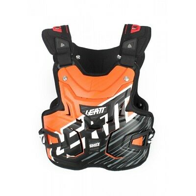 Leatt Mx Gear Body Armour Lite Shox Orange Motocross Dirt Bike Chest Protector