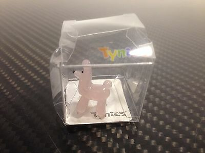 PIT Poodle Pink dog TYNIES Tiny Glass Figure Figurines Collectibles 0047