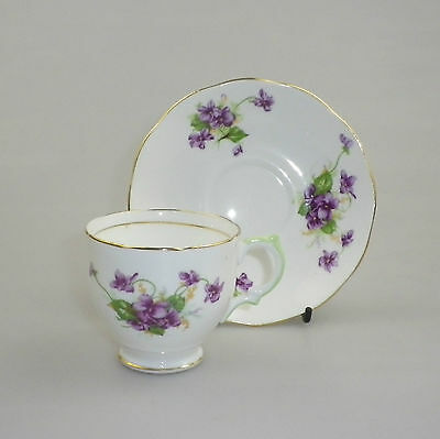 Salisbury Bone China Demitasse  Violets K1634