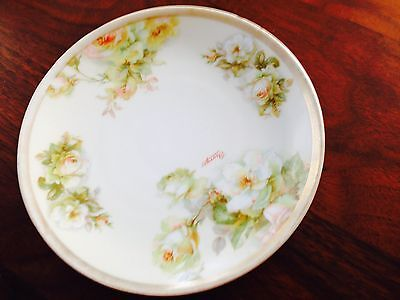 """Royal O & E. G. Hand Painted 6"""" Plate signed by Georges - Austria"""