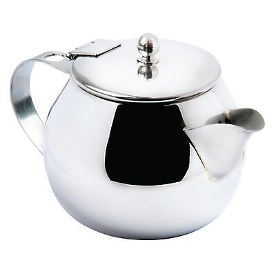 Olympia Non-Drip Teapot Stainless Steel 15oz, Modern/stylish-with easypour spout