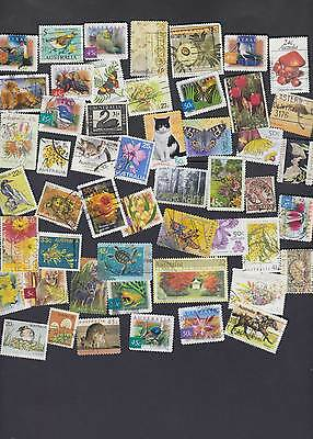 50 Different Flora and Fauna stamps of Australia