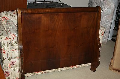 Anitque Mahogany Twin Sleigh Bed Frame - GORGEOUS