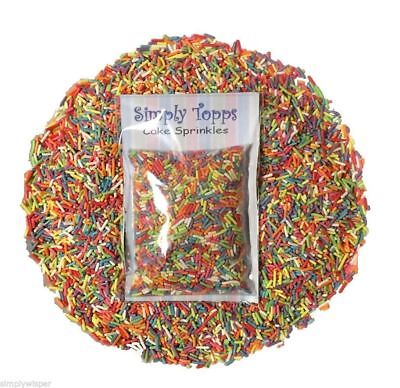 Rainbow Colored Sugar Strands 30g Cupcake Sprinkles Cake Decorations