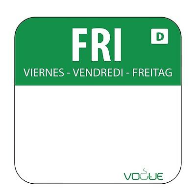 Dissolvable Food Rotation Green Friday Food Labels Food Preparation Date Sticker