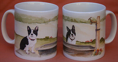 BOSTON TERRIER DOG Mug Off to the Dog Show Sandra Coen artist sublimation print