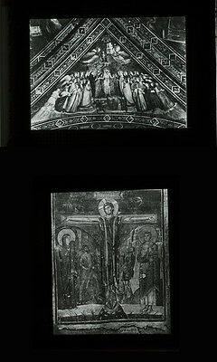 Group Of 5 Photos On Glass Byzantine Icons Madonna Of Vladimir   Trinity