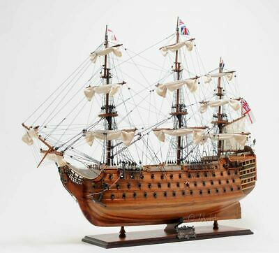 "HMS Victory Admiral Nelson's' Flagship Tall Ship 30"" Wood Model Boat Assembled"
