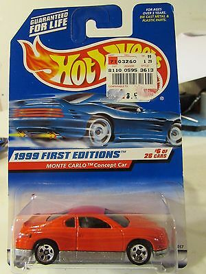 HOT WHEELS 1999 FIRST EDITION CHEVY MONTE CARLO CONCEPT CAR T02 Creased Corner