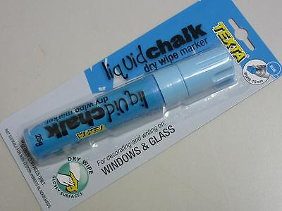 Texta Liquid Chalk marker Dry Wipe decorating writing glossy surfaces 15mm BLUE