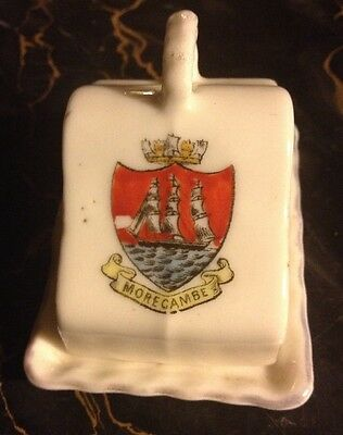 CHEESE PLATE DISH Crested China UK England MORECAMBE Sail Boat Gemma