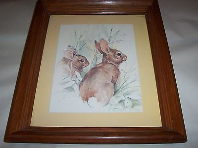 Bunny Rabbit Picture Vintage Home Interiors