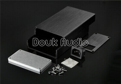 Small-sized Aluminium Enclosure Power Amplifer Case DIY Chassis (W92×H47×D158mm)