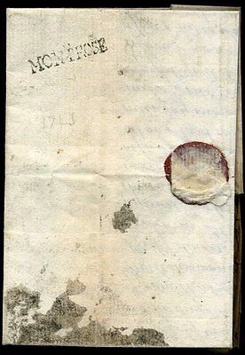 1743 small 'MONTROSE' Straightline entire to Edinburgh